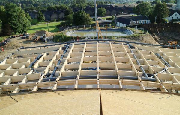 Macallan Ansicht Tragwerk Bauzustand